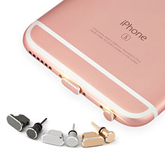 Tappi Antipolvere Anti-dust Lightning USB Jack Antipolvere J04 per Apple iPhone 5S Oro Rosa