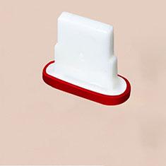 Tappi Antipolvere Anti-dust Lightning USB Jack Antipolvere J07 per Apple iPhone 12 Pro Max Rosso