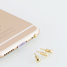 Tappi Antipolvere Jack Cuffie 3.5mm Anti-dust Android Apple Anti Polvere Universale D05 per Apple iPhone 11 Pro Max Oro