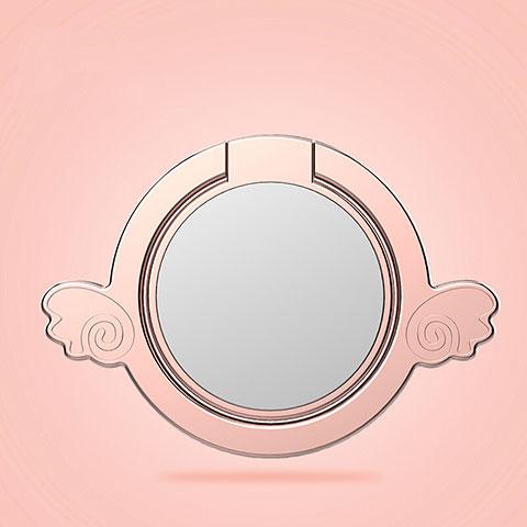 Anello Supporto Magnetico Sostegno Cellulari Universale Z18 Oro Rosa