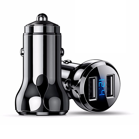 Caricabatteria da Auto Doppia Porta Adattatore 4.8A Universale K09 Nero