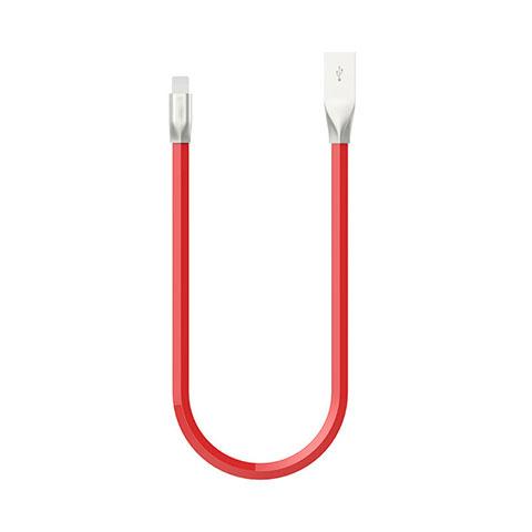 Cavo da USB a Cavetto Ricarica Carica C06 per Apple iPhone 11 Rosso