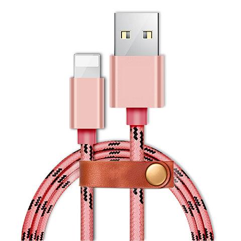 Cavo da USB a Cavetto Ricarica Carica L05 per Apple iPhone 11 Pro Rosa