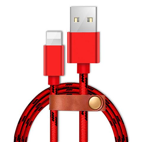 Cavo da USB a Cavetto Ricarica Carica L05 per Apple iPhone 11 Pro Rosso