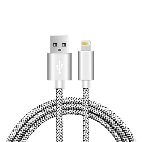 Cavo da USB a Cavetto Ricarica Carica L07 per Apple iPhone 11 Pro Argento