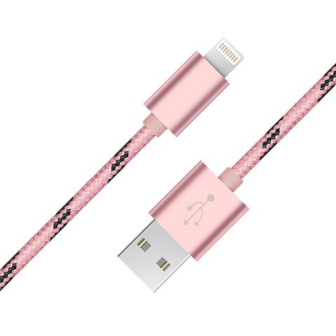 Cavo da USB a Cavetto Ricarica Carica L10 per Apple iPhone 11 Pro Rosa