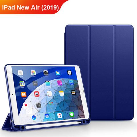 Cover Portafoglio In Pelle con Supporto per Apple iPad New Air (2019) 10.5 Blu