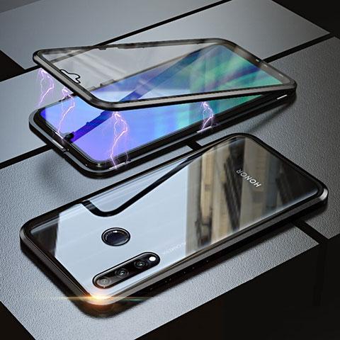 Custodia Lusso Alluminio Laterale Specchio 360 Gradi Cover per Huawei Honor 20 Lite Nero