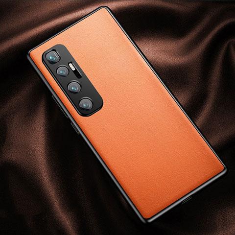 Custodia Lusso Pelle Cover per Xiaomi Mi 10 Ultra Arancione