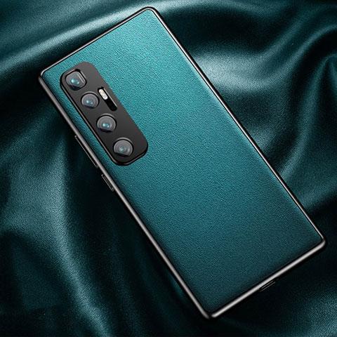 Custodia Lusso Pelle Cover per Xiaomi Mi 10 Ultra Ciano