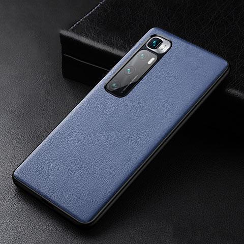 Custodia Lusso Pelle Cover S01 per Xiaomi Mi 10 Ultra Blu