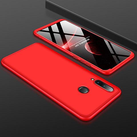 Custodia Plastica Rigida Cover Opaca Fronte e Retro 360 Gradi per Huawei P30 Lite Rosso