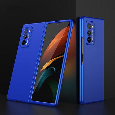 Custodia Plastica Rigida Cover Opaca Fronte e Retro 360 Gradi per Samsung Galaxy Z Fold2 5G Blu
