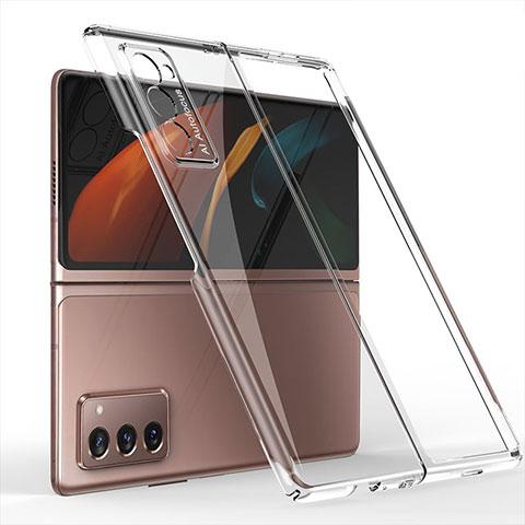 Custodia Plastica Rigida Cover Opaca Fronte e Retro 360 Gradi per Samsung Galaxy Z Fold2 5G Chiaro