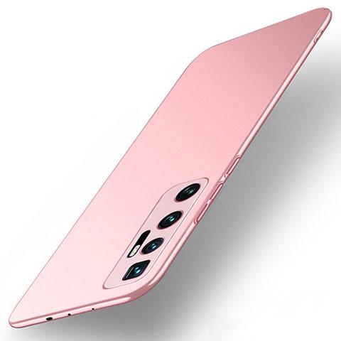 Custodia Plastica Rigida Cover Opaca M01 per Xiaomi Mi 10 Ultra Oro Rosa