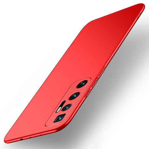Custodia Plastica Rigida Cover Opaca M01 per Xiaomi Mi 10 Ultra Rosso