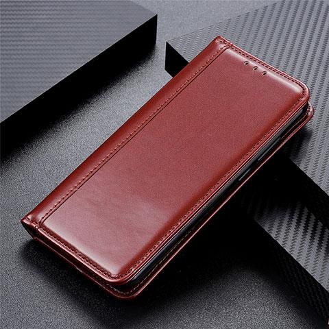 Custodia Portafoglio In Pelle Cover con Supporto L01 per Oppo Reno3 A Marrone