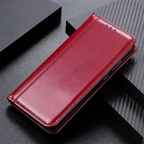 Custodia Portafoglio In Pelle Cover con Supporto L01 per Oppo Reno3 A Rosso Rosa