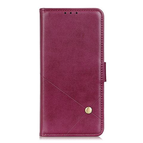 Custodia Portafoglio In Pelle Cover con Supporto L02 per Motorola Moto G9 Plus Rosso Rosa