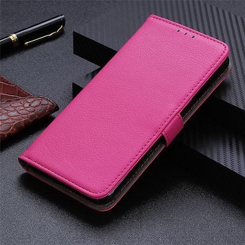 Custodia Portafoglio In Pelle Cover con Supporto L03 per Motorola Moto G9 Plus Rosa Caldo