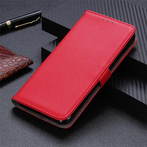 Custodia Portafoglio In Pelle Cover con Supporto L03 per Motorola Moto G9 Plus Rosso
