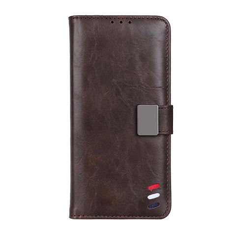 Custodia Portafoglio In Pelle Cover con Supporto L04 per Motorola Moto G9 Plus Marrone