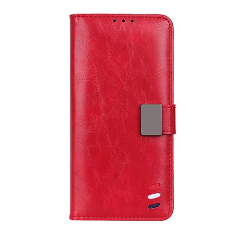 Custodia Portafoglio In Pelle Cover con Supporto L04 per Motorola Moto G9 Plus Rosso
