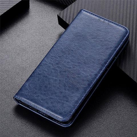Custodia Portafoglio In Pelle Cover con Supporto L05 per Motorola Moto G9 Plus Blu