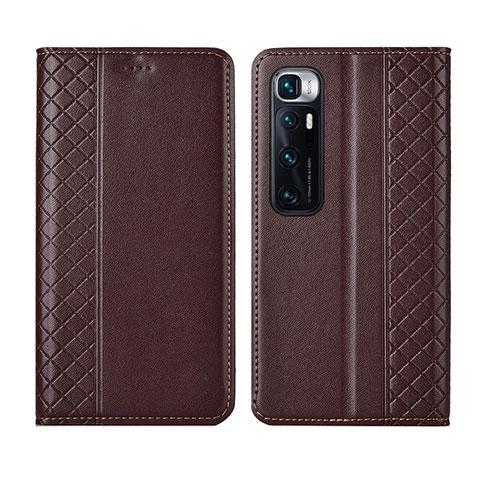 Custodia Portafoglio In Pelle Cover con Supporto L05 per Xiaomi Mi 10 Ultra Marrone
