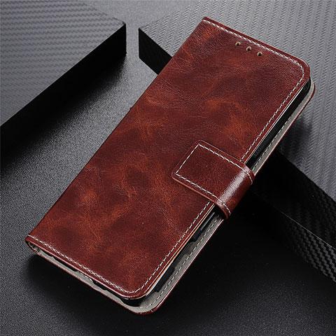 Custodia Portafoglio In Pelle Cover con Supporto L07 per Motorola Moto G9 Plus Marrone