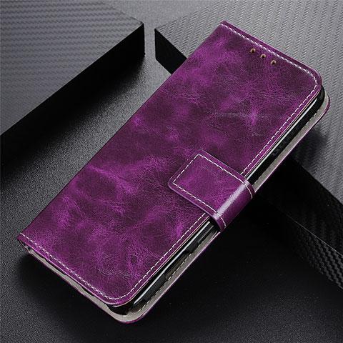 Custodia Portafoglio In Pelle Cover con Supporto L07 per Motorola Moto G9 Plus Viola