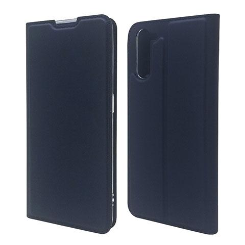 Custodia Portafoglio In Pelle Cover con Supporto L09 per Oppo Reno3 A Blu Notte