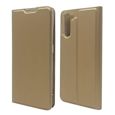 Custodia Portafoglio In Pelle Cover con Supporto L09 per Oppo Reno3 A Oro