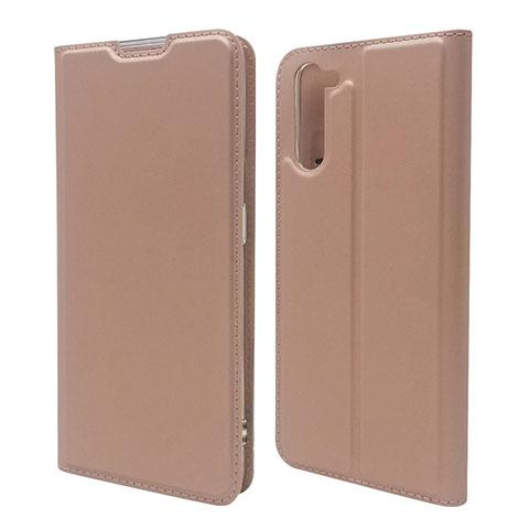 Custodia Portafoglio In Pelle Cover con Supporto L09 per Oppo Reno3 A Oro Rosa