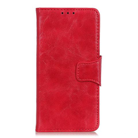 Custodia Portafoglio In Pelle Cover con Supporto per Oppo Reno3 A Rosso