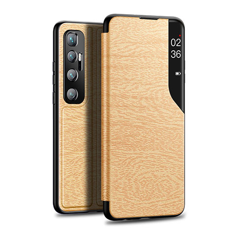 Custodia Portafoglio In Pelle Cover con Supporto per Xiaomi Mi 10 Ultra Oro