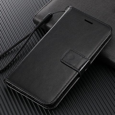 Custodia Portafoglio In Pelle Cover con Supporto T09 per Oppo Find X2 Pro Nero
