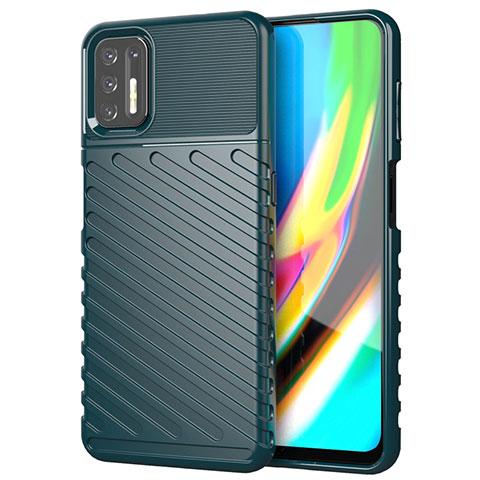Custodia Silicone Cover Morbida Line per Motorola Moto G9 Plus Verde