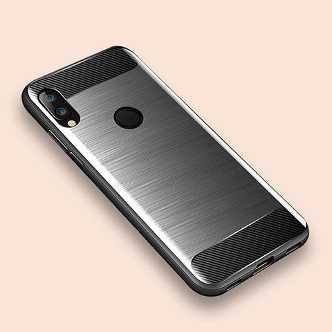 Custodia Silicone Cover Morbida Line per Xiaomi Redmi Note 7 Argento