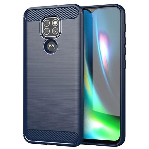 Custodia Silicone Cover Morbida Line S01 per Motorola Moto G9 Blu