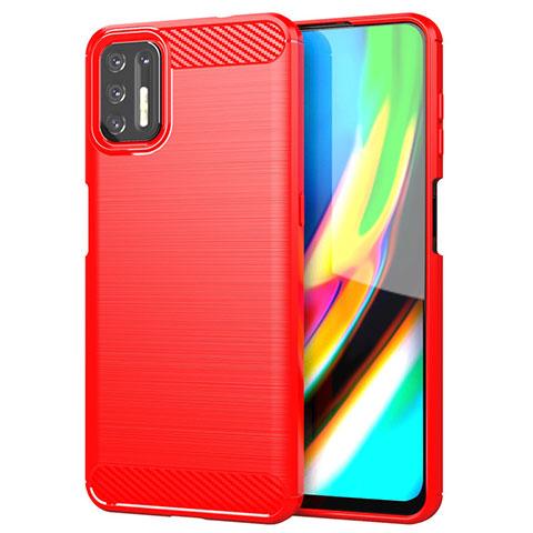 Custodia Silicone Cover Morbida Line S01 per Motorola Moto G9 Plus Rosso