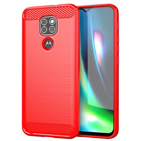 Custodia Silicone Cover Morbida Line S01 per Motorola Moto G9 Rosso