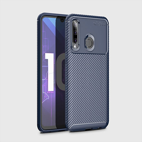 Custodia Silicone Cover Morbida Spigato per Huawei Honor 20 Lite Blu
