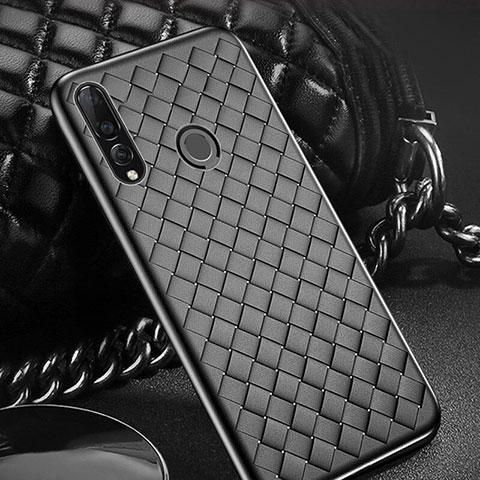 Custodia Silicone Morbida In Pelle Cover A01 per Huawei Honor 20 Lite Nero