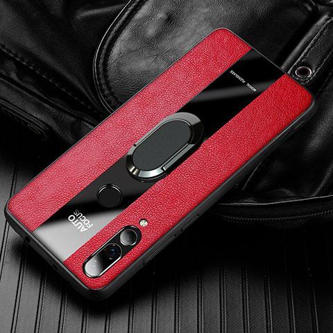 Custodia Silicone Morbida In Pelle Cover per Huawei Honor 20 Lite Rosso