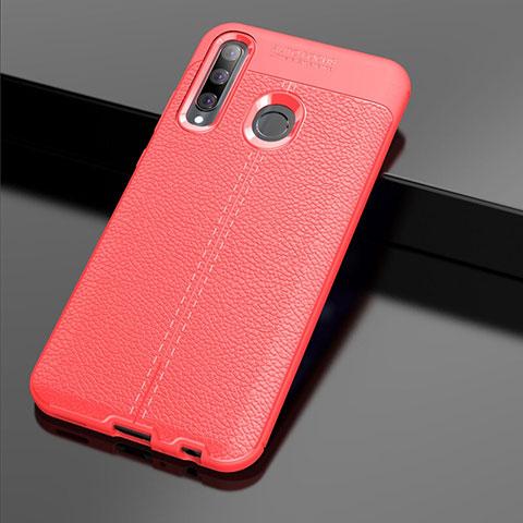 Custodia Silicone Morbida In Pelle Cover S01 per Huawei Honor 20 Lite Rosso