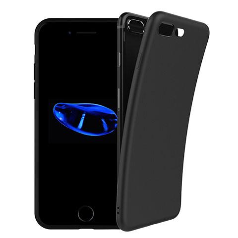 Custodia Silicone Morbida Lucido per Apple iPhone 8 Plus Nero
