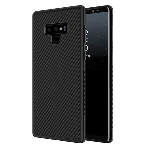 Custodia Silicone Morbida Spigato per Samsung Galaxy Note 9 Nero
