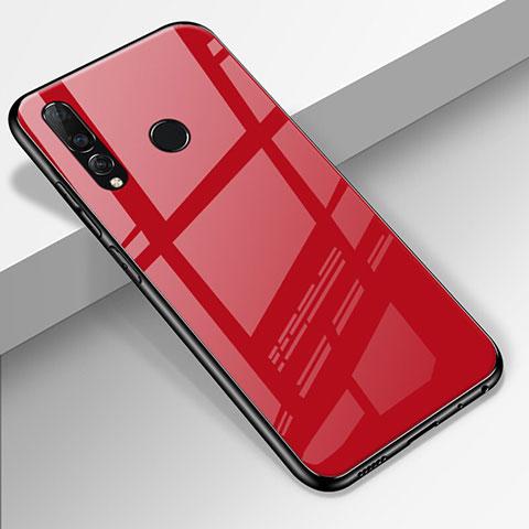 Custodia Silicone Specchio Laterale Cover per Huawei Honor 20 Lite Rosso