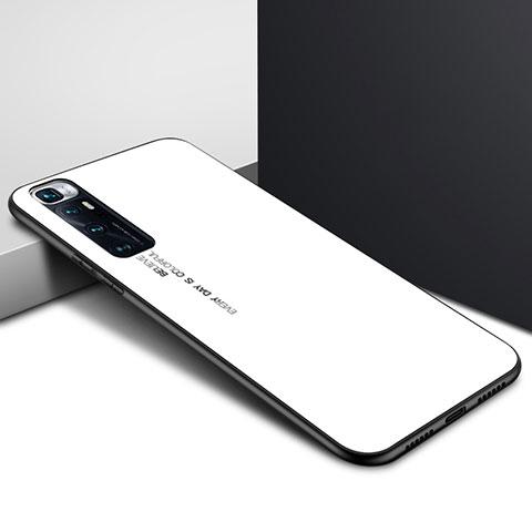 Custodia Silicone Specchio Laterale Cover per Xiaomi Mi 10 Ultra Bianco